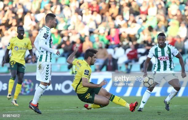 Pacos de Ferreira forward Luiz Phellype from Brazil in action during the Primeira Liga match between Vitoria Setubal and Pacos de Ferreira at Estadio...
