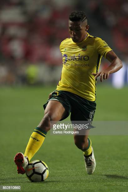 Pacos de Ferreira forward Welthon from Brazil during the match between SL Benfica and FC Paco de Ferreira for the round seven of the Portuguese...