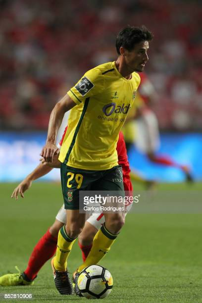 Pacos de Ferreira midfielder Vasco Rocha from Portugal during the match between SL Benfica and FC Paco de Ferreira for the round seven of the...