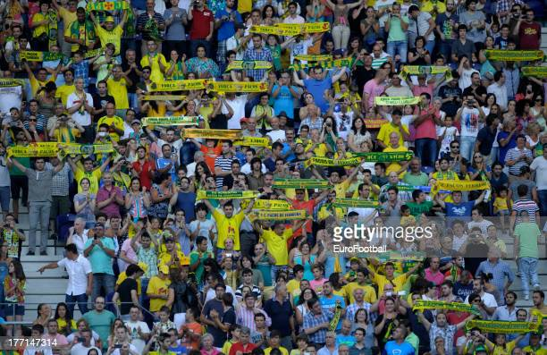 Pacos de Ferreira supporters during the UEFA Champions League play-off first leg match between FC Pacos de Ferreira and FC Zenit St Petersburg held...