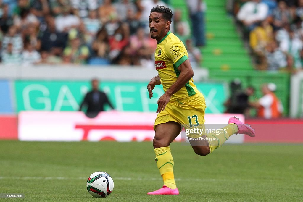 Pacos de Ferreira's defender Joao Gois during the match between Sporting CP and FC Pacos de Ferreira at Jose Alvalade Stadium on August 22, 2015 in Lisbon, Portugal.