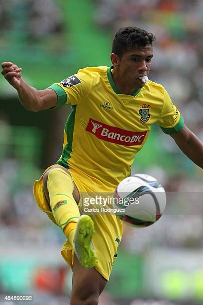 Pacos de Ferreira's forward Vasco Rocha during the match between Sporting CP and FC Pacos de Ferreira at Jose Alvalade Stadium on August 22 2015 in...