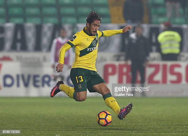 Pacos Ferreira's defender Joao Gois from Portugal in action during the Primeira Liga match between Pacos de Ferreira and Boavista FC at Estadio da...