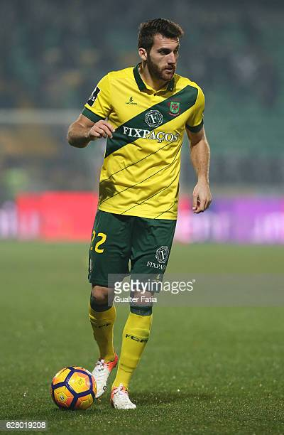 Pacos Ferreira's defender Miguel Vieira from Portugal in action during the Primeira Liga match between Pacos de Ferreira and Boavista FC at Estadio...
