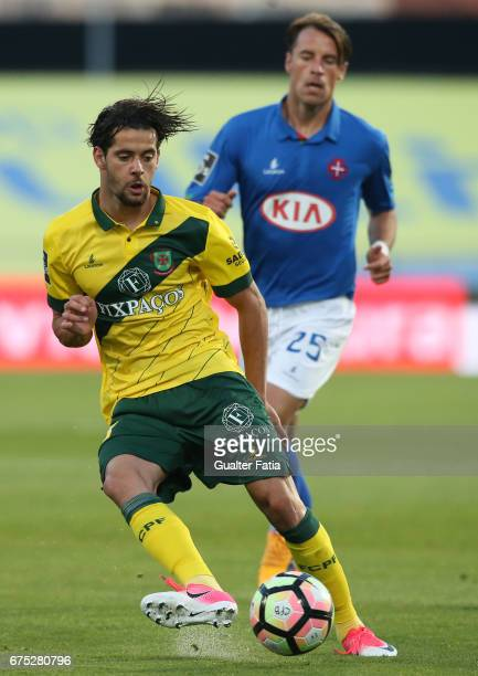 Pacos Ferreira's forward Ivo Rodrigues from Portugal in action during the Primeira Liga match between CF Os Belenenses and FC Pacos de Ferreira at...