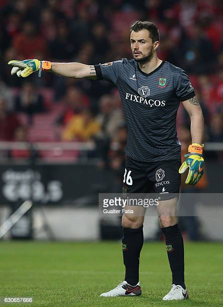 Pacos Ferreira's goalkeeper Mario Felgueiras from Portugal in action during the Primeira Liga match between SL Benfica and FC Pacos de Ferreira at...