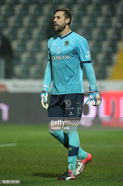 Pacos Ferreira's goalkeeper Rafael Defendi from Brazil in action during the Primeira Liga match between Pacos de Ferreira and Boavista FC at Estadio...