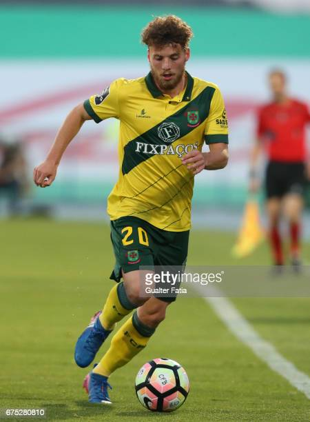 Pacos Ferreira's midfielder Andrezinho from Portugal in action during the Primeira Liga match between CF Os Belenenses and FC Pacos de Ferreira at...