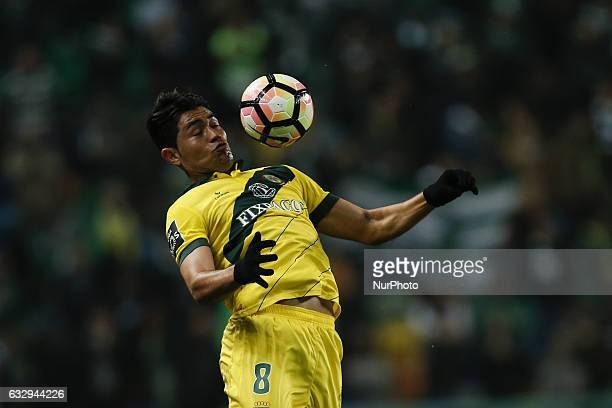 Pacos Ferreira's midfielder Christian in action during Premier League 2016/17 match between Sporting CP vs FC Pacos Ferreira in Lisbon on January 28...