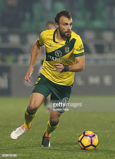 Pacos Ferreira's midfielder Marco Baixinho from Portugal in action during the Primeira Liga match between Pacos de Ferreira and Boavista FC at...