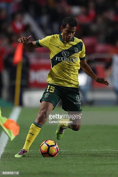 Pacos Ferreira's midfielder Mateus Silva from Brazil during the SL Benfica v FC Pacos de Ferreira Portuguese Cup at Estadio da Luz on December 29...