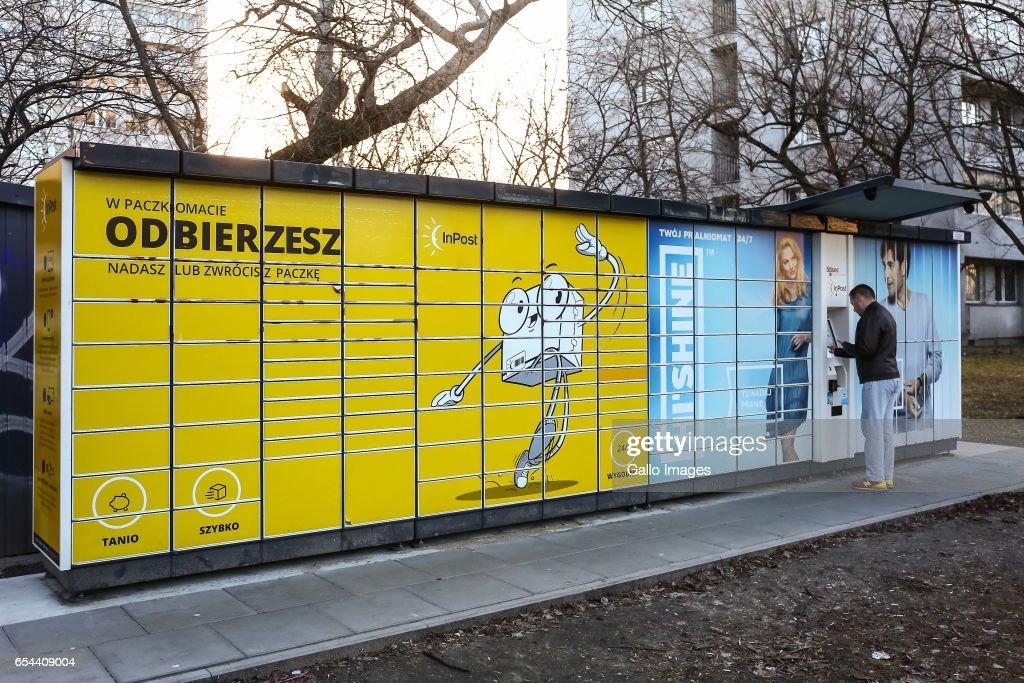 'Paczkomaty' InPost in Warsaw : News Photo