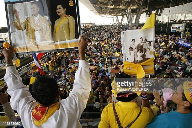 Pad Declares Victory After Resignation Of Pm Somchai But Continues Their Airport Blockades In Bangkok Thailand On December 02 2008