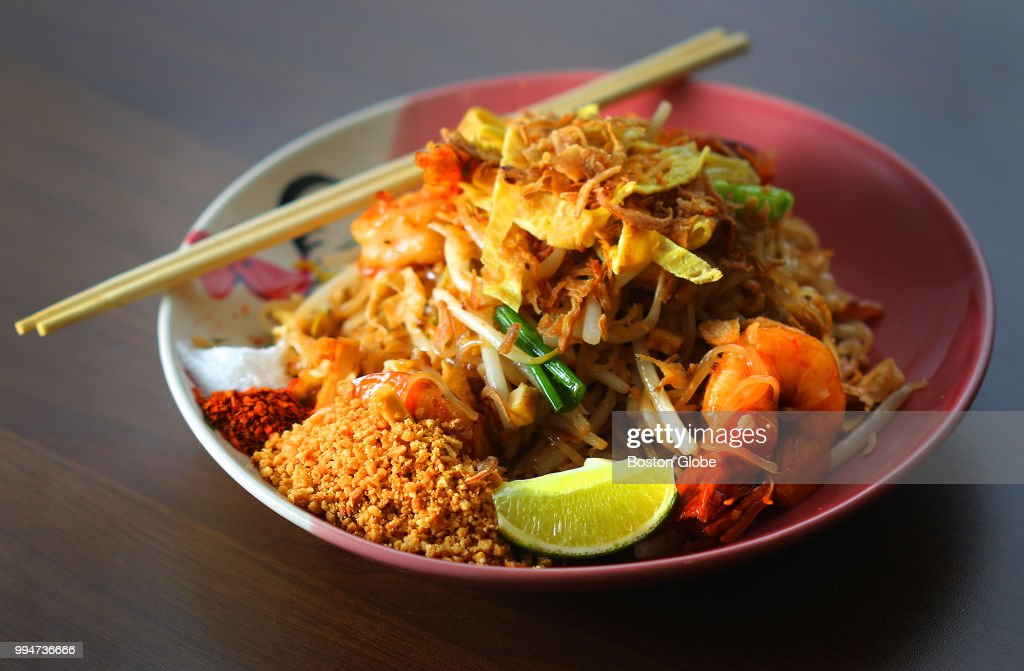 Pad Thai Is Pictured At Dakzen A Newly Opened Restaurant In Davis Square