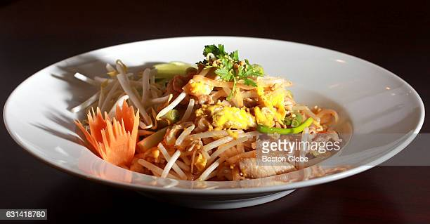 Pad Thai with pork is pictured at Thana Thai Kitchen in Arlington MA on Dec 22 2015