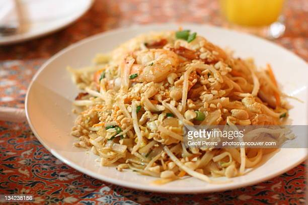 Pad Thai with seafood and peanuts