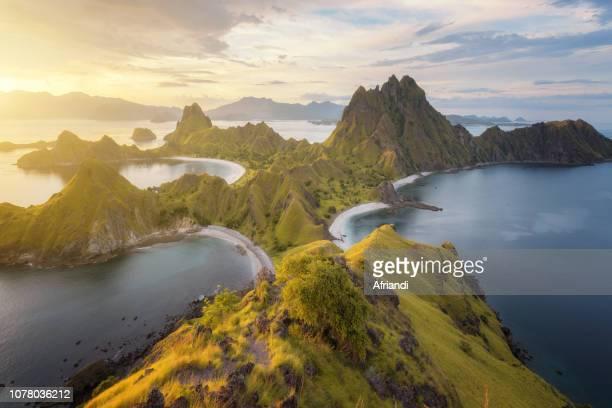 padar island, east nusa tenggara, indonesia - east nusa tenggara stock pictures, royalty-free photos & images
