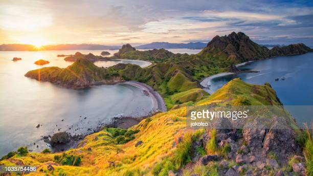 padar island, komodo national park, indonesia - komodo fotografías e imágenes de stock