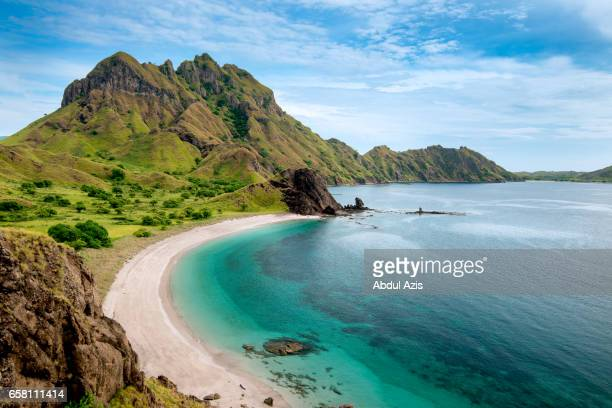padar island - the icon of komodo national park - labuan bajo in flores island- east nusa tenggara - indonesia - bali stock pictures, royalty-free photos & images