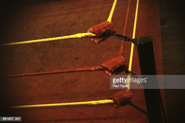 padded corner of wrestling ring - wrestling stock pictures, royalty-free photos & images