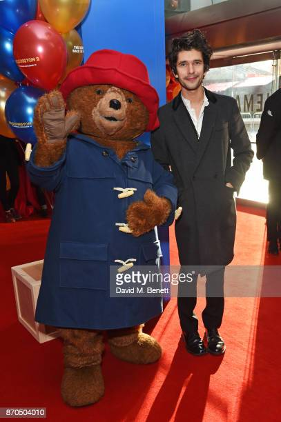 Paddington Bear and Ben Whishaw attend the World Premiere of 'Paddington 2' at Odeon Leicester Square on November 5 2017 in London England