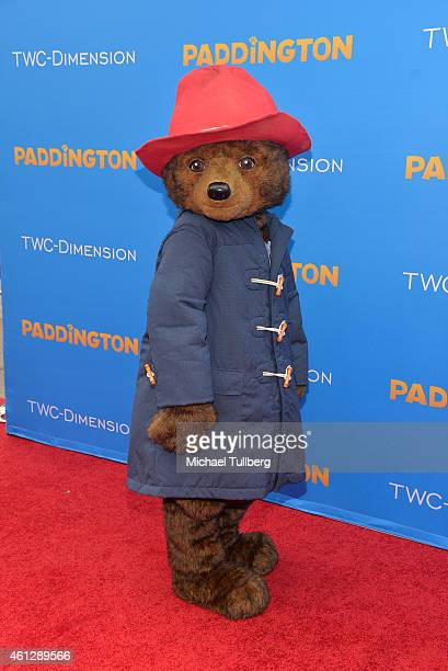 Paddington Bear attends the premiere of TWCDimension's film Paddington at TCL Chinese Theatre IMAX on January 10 2015 in Hollywood California