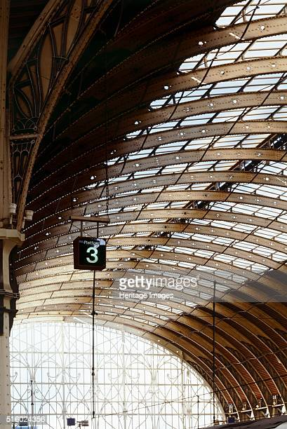 Paddington Station Eastbourne Terrace City of Westminster London c2000s An interior view looking along the train shed arches Artist Unknown