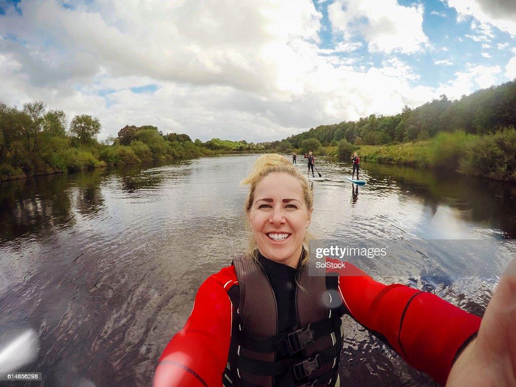 Paddle Board Selfie : Stock Photo