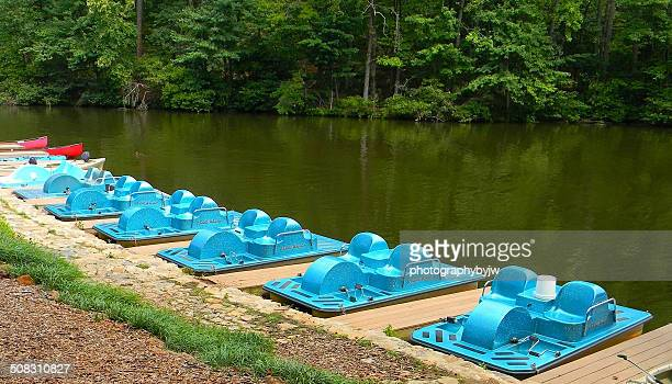 paddle boat fun - greenville south carolina stock photos and pictures