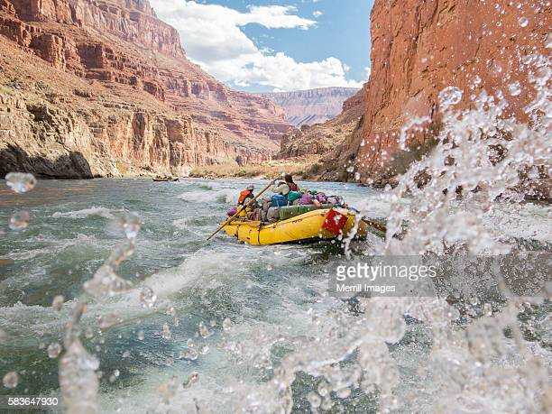 Paddle raft on Colorado River, Grand Canyon