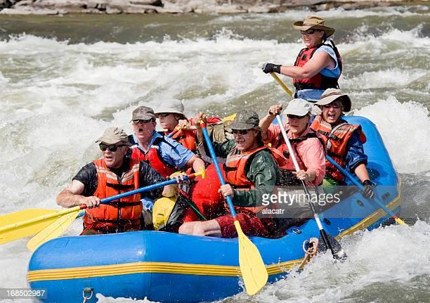 Rafting à la pagaie, Grande Ronde rivière, l'Oregon.