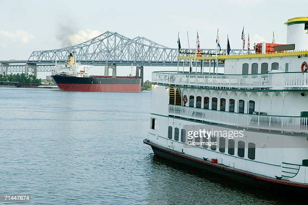 Paddle steamer in a river, Mississippi River, New Orleans, Louisiana, USA