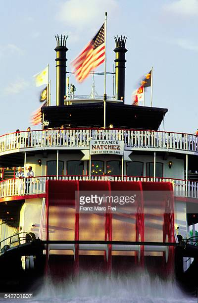 Paddle steamer on the Mississippi