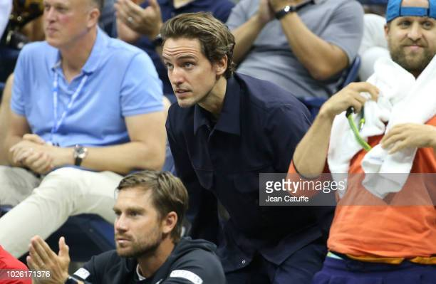 Paddle8 cofounder Alexander Gilkes boyfriend of Maria Sharapova of Russia during her match on day 6 of the 2018 tennis US Open on Arthur Ashe stadium...