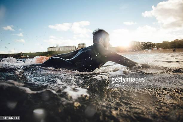 Paddling Through the Waves