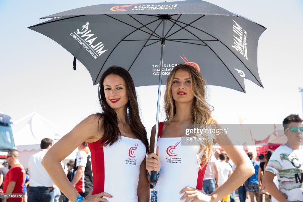 "Paddock Girl during the race 2 of the Motul FIM Superbike Championship, Riviera di Rimini Round, at Misano World Circuit ""Marco Simoncelli"", on June 18, 2017 in Misano Adriatico, Italy"
