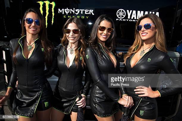 Paddock girls during qualifying sessions of Motul Grand Prix Valencia