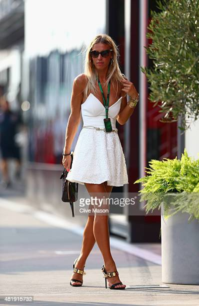 Paddock glamour after qualifying for the Formula One Grand Prix of Hungary at Hungaroring on July 25 2015 in Budapest Hungary