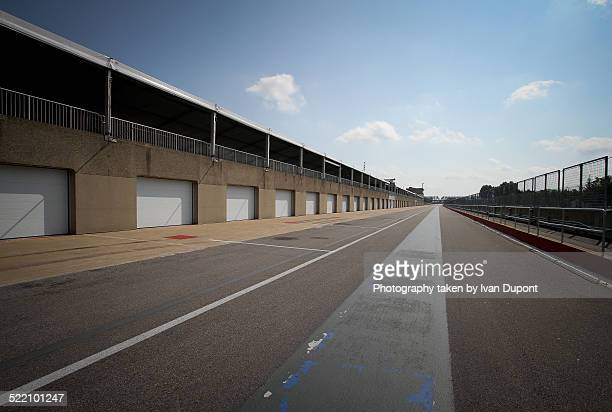 paddocks on jacques villeneuve circuit - paddock stock photos and pictures