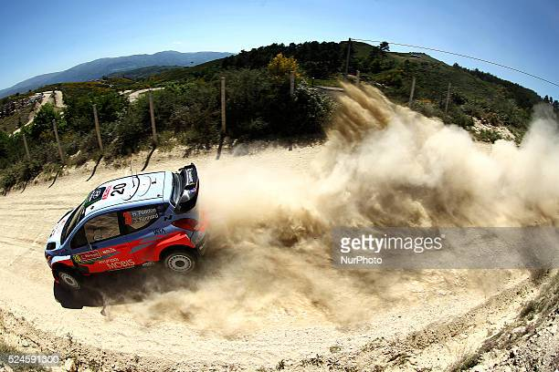 Paddon Hayden and John Kennard in Hyundai i20WRC of team Hyundai Motorsport N in action during the SS11 Bai��o of WRC Vodafone Rally Portugal 2015 at...