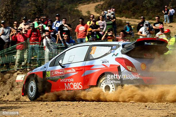 Paddon Hayden and John Kennard in Hyundai i20WRC of team Hyundai Motorsport N in action during the SS2 Ponte de Lima of WRC Vodafone Rally Portugal...