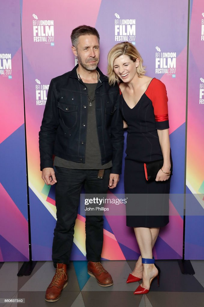 Paddy Considine (L) and Jodie Whittaker attend a screening 'Journey Man' during the 61st BFI London Film Festival on October 12, 2017 in London, England.