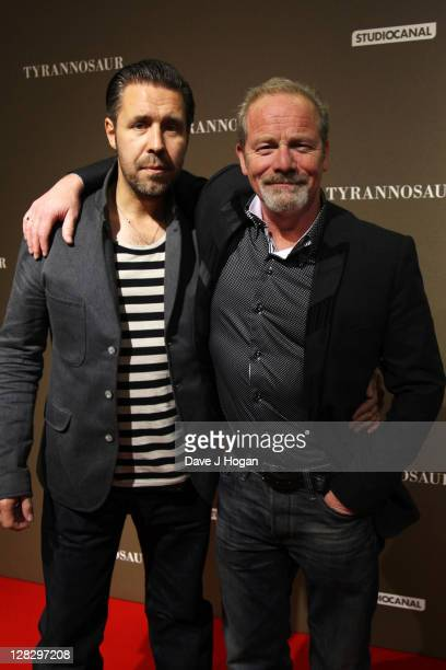 Paddy Considine and Peter Mullan attend the London premiere of 'Tyrannosaur' at The BFI Southbank on October 6 2011 in London United Kingdom