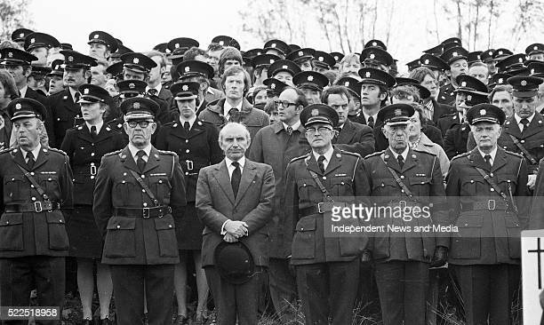 Paddy CooneyTDthe Minister for Justice and senior Garda Officers at the funeral of Garda Michael Clerkin at Latlurcan cemetery outside Monghan Town...