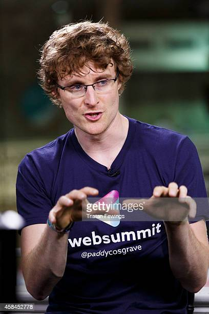 Paddy Cosgrave, Founder and CEO of Web Summit is interviewed by Deirdre Bolton for Fox Business News at the 2014 Web Summit on November 5, 2014 in...