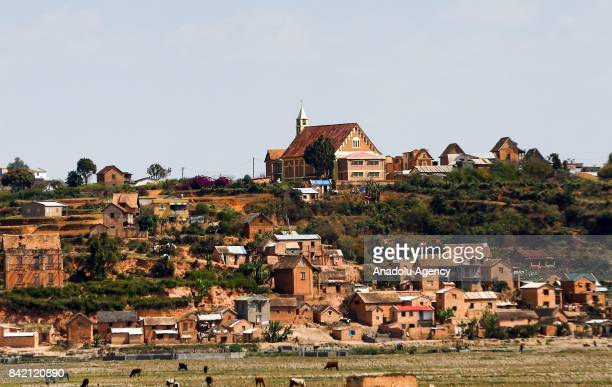 A paddy field is seen in Antananarivo Madagascar on September 2 2017