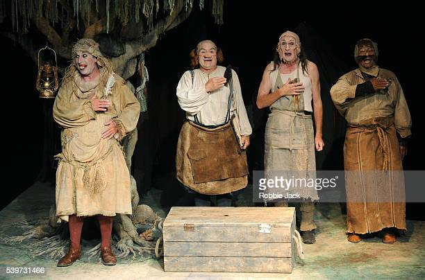 Paddy Hayter Vincent Gracieux Joseph Cunningham and Mas Soegeng performing in Footbarn Theatre's production of William Shakespeare's A Midsummer...