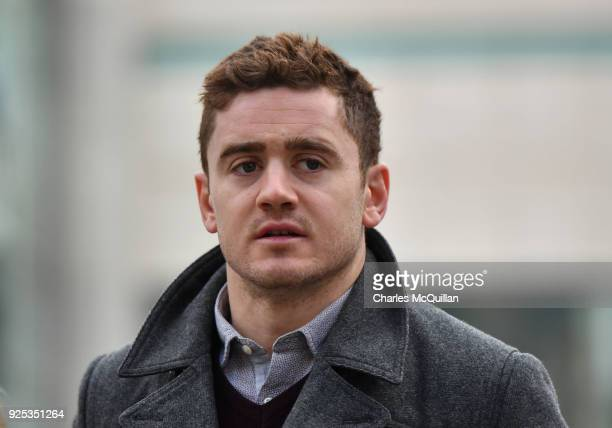 Paddy Jackson arrives at Belfast Laganside courts on February 28 2018 in Belfast Northern Ireland The Ireland and Ulster rugby player is accused of...
