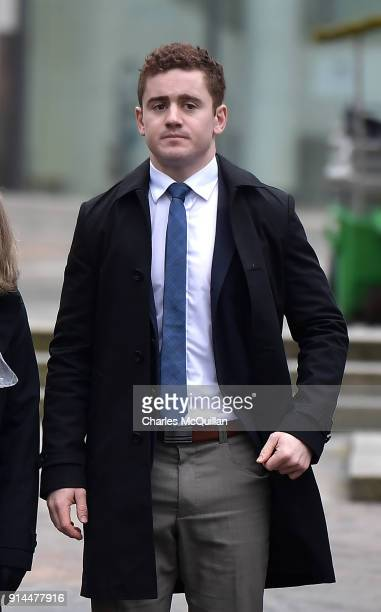 Paddy Jackson arrives at Belfast Laganside courts on February 5 2018 in Belfast Northern Ireland The Ireland and Ulster rugby player is accused of...