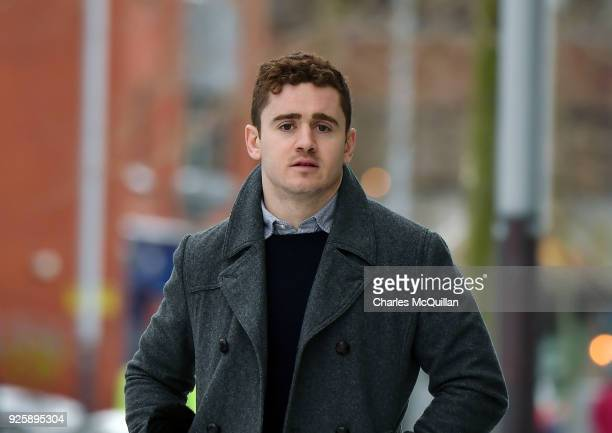 Paddy Jackson arrives at Belfast Laganside courts on March 1 2018 in Belfast Northern Ireland The Ireland and Ulster rugby player is accused of...